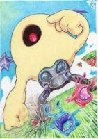 ACEO Yellow Devil as Eye Brawl :3 by Sketchy-on-Details