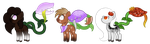 *CLOSED* Minecraft Horse Plant Ponies by SilverRomance
