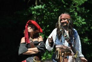Captain Sparrow with Captain Anya by AriadneEvans