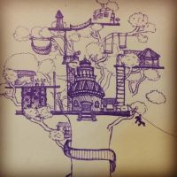 Dream Treehouse by Cakeiola