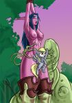 Derpy and the Night Elf by Donutwish