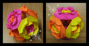 Rose Kusudama by mnemosynestar