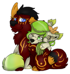 Miya and Alystar chibi by Blind-Kidd