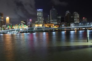 Brisbane by night 3876 by fa-stock