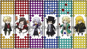 Pandora Hearts bookmarks by michiika
