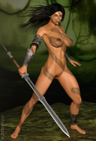 Headhuntress by paultheslayer