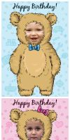 Baby-bear cards - FREE by oxanaart