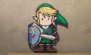 Link in Perler by RavenTezea