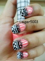 Pink Nail art by SuperG0blin