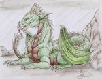 Green Dragon by ObsidianThorn
