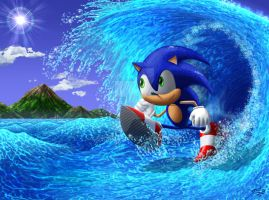Surf Shreddi'n Sonic by priteeboy