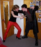 Better Buffy and Spike Cosplay by hippie-girl