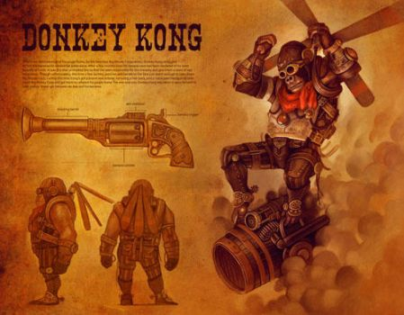 Steam Punked Donkey Kong by cry-ky