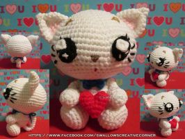 Valentine's Day Kitty by swallowtt