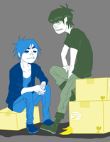 2D and Murdo - Bananas by AniiTaRuiz