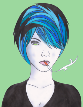 Cigarette Girl #9 -2015 Version- by Crystalspike