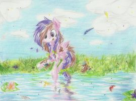 Catching the feathers by scootie-wootie