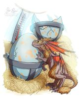 Easter Dragon by Risachantag