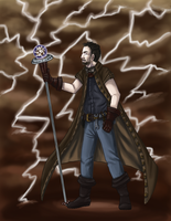 Thunder God of Inspiration by Doodlee-a