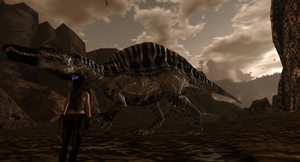 The Lost World With Rosa Croft Spinosaurus by MillianaRose