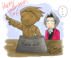 Phoenix Wright Valentines by bad-exposition