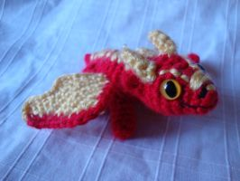 Sparks the Red Baby Dragono by Moosetracks
