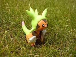Chespin, the grass starter by Neukino