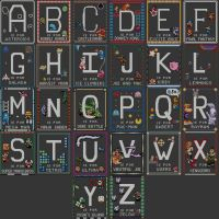 Video Game Alphabet Pattern by Craftigurumi