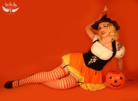 Candy Corn Pin-up by vivavanstory