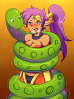 Snake squeeze Shantae by Elias1986DID