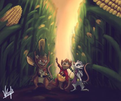 Field of cobs. by Acacia-Rabbit-Desert