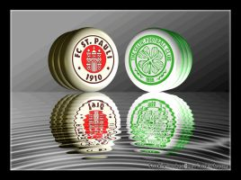 Celtic FC + FC ST Pauli Crests by sookiesooker