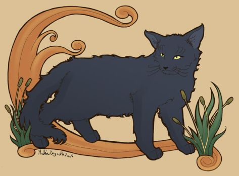 Art Nouveau-ish cat by tigon