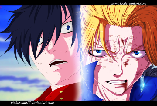 Fairy tail_gray and Sting_Joint work by memo15