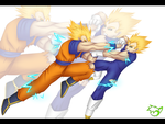 .: Vegeta Vs Goku :. by CaptainPinsel