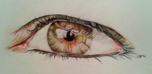 Another Eye Drawing by lizzardhunter