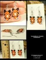 Cute Foxie Earrings by CatharsisJB