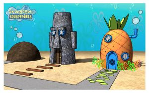 Spongebob's house in 3d by azeta