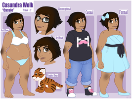 Cassie Reference Sheet - Commission by strawberryneko33