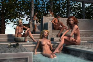 At the Bath House by Bad-Dragon