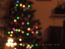 Christmas tree - bokeh by TynnaHatter