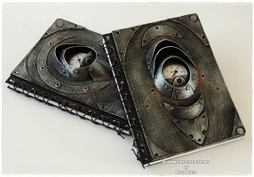 Notebooks Steampunk Metal by Diarment