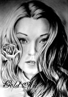 Sarah Bolger Speed Drawing by ArtGoldArt