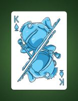 My drawing of my King Of Spades aka King Of Water by LineDetail