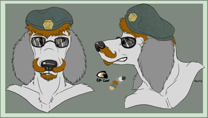 Set 1 of four headshot ref commission by nightspiritwing