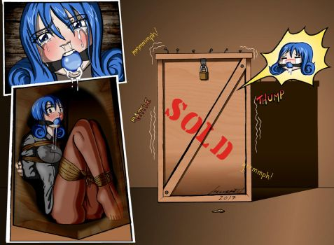 Commission: Juvia Boxed Up by Geknebelt