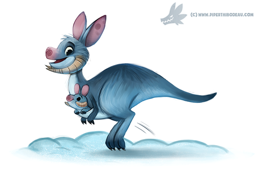 Daily Paint #1130. Tauntaun by Cryptid-Creations