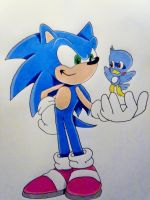 Sonic and Flicky by DarkGamer2011