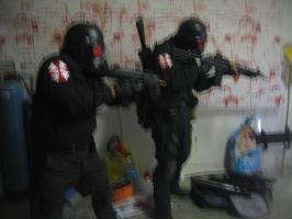 Resident Evil Umbrella Corporation alleyway by Demon-Lord-Cosplay