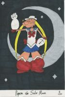 Popeye the Sailor Moon by onyxswami